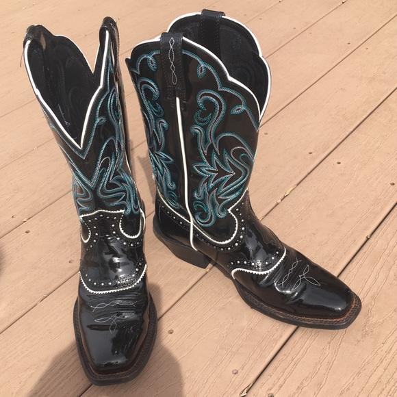 3ae3680379f Ariat Patent Leather Women's Cowboy Boots